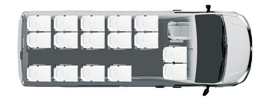 Городской микроавтобус Газель NEXT, 16+1+1 мест, белый. Вид сверху