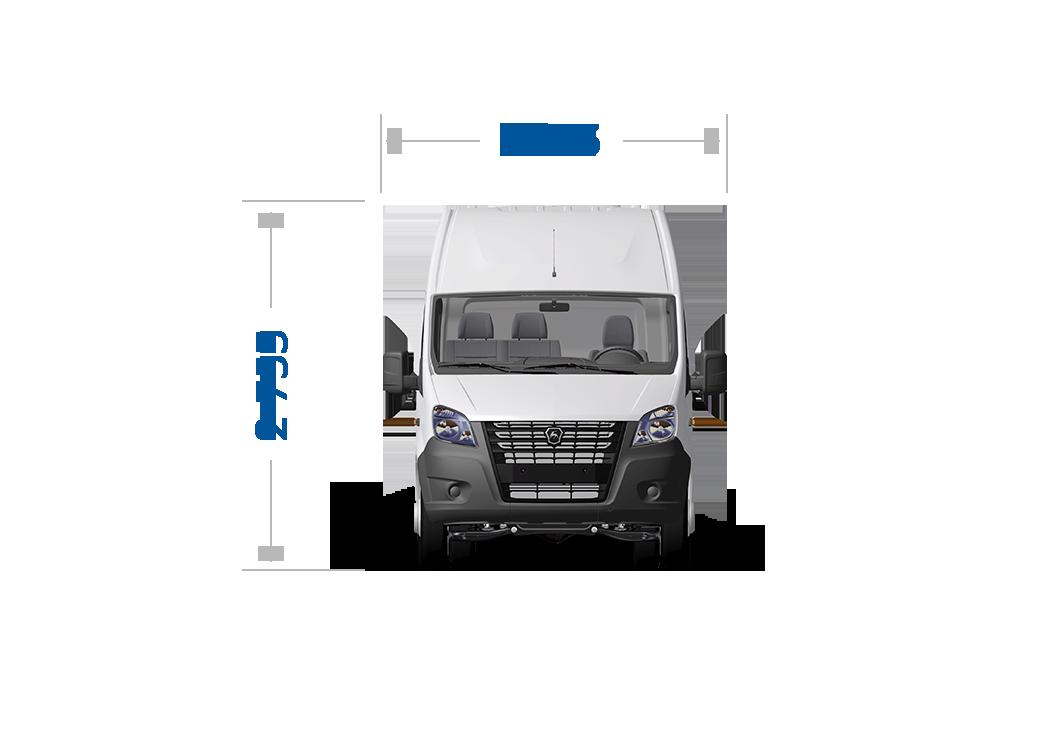 Габаритные размеры ГАЗель Next ЦМФ 3,5 тонн, кабина