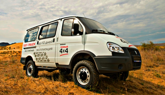 Автомобиль на базе ГАЗель 4WD, Test-truck