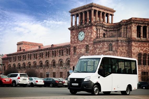 Автомобиль ГАЗель Next Автобус Citiline, белый. Вид слева