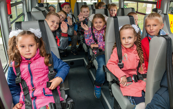 Все модели автобусов ГАЗель Next для перевозки детей соответствуют требованиям ГОСТ