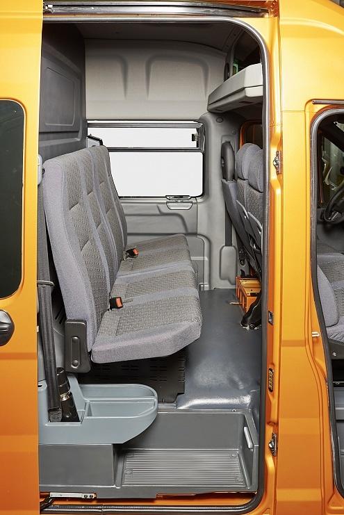 Раскладывающийся ряд сидений в автомобилях ГАЗель Next