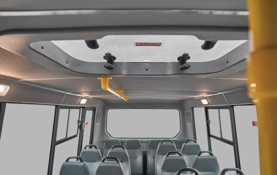Удобные поручни по всей длине салона ГАЗель Next Автобус