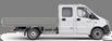Габаритные размеры ГАЗель Next Борт 4,6 тонн, удлиненная база 7 мест