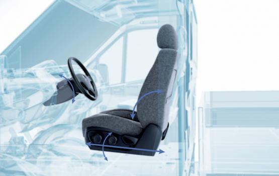 Удобное водительское сиденье с улучшенной анатомической поддержкой, пятью регулировками ГАЗель Next ЦМФ