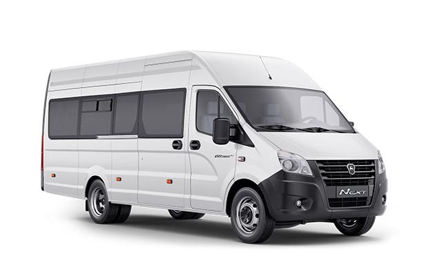ГАЗель NEXT автобус Цельнометаллический, белая. Вид справа