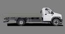 Габариты ГАЗон NEXT 8,7 тонн Универсальный, 3 места стандартная база. Вид сбоку. Изображение для навигации
