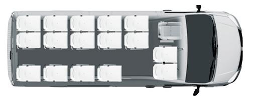 Пригородный микроавтобус Газель NEXT, 16+0+1 мест, белый. Вид сверху