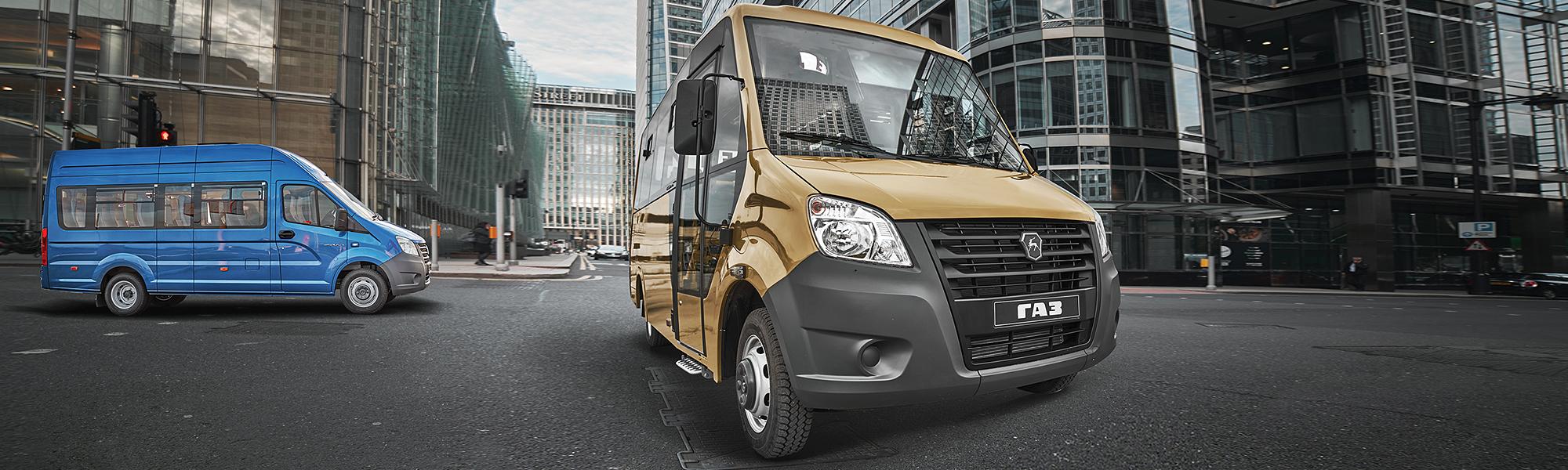 Автомобили семейства ГАЗель Next Автобусы. Десктопное изображение