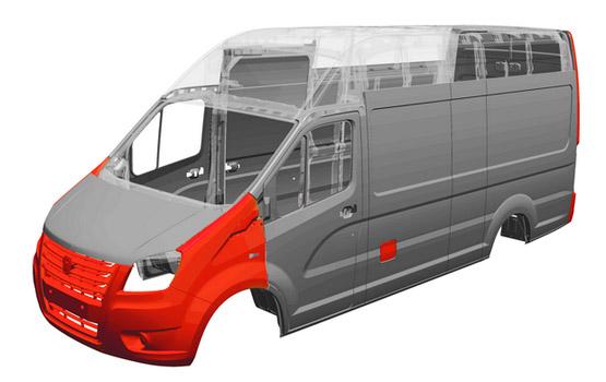 Высокая коррозионная стойкость Цельнометаллического кузова Газели NEXT