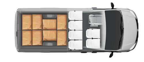 Схема размещения палет ГАЗель Next ЦМФ 3,5 тонн, стандартная база
