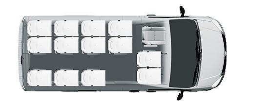 Городской микроавтобус Газель NEXT, 13+1+1 мест, белый. Вид сверху