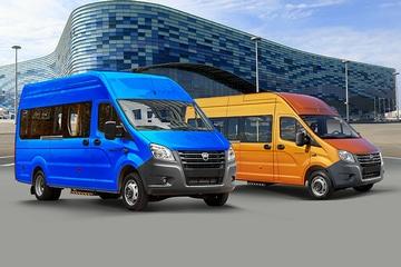 Автомобили на базе Газель NEXT, сидней и желтый. Вид справа