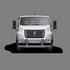 Габариты кабины ГАЗон NEXT 8,7 тонн Универсальный. Вид спереди. Изображение для навигации