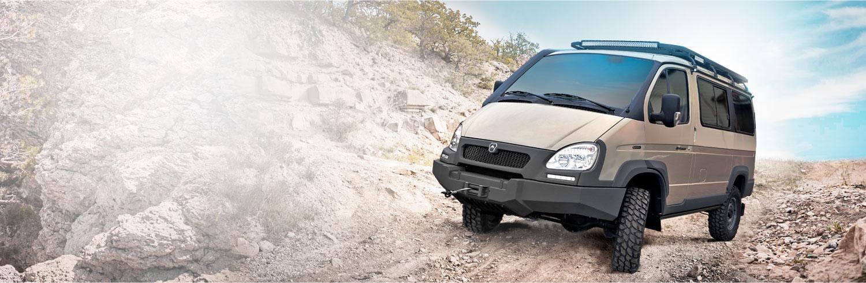 Автомобиль на базе ГАЗ 4WD, тунис. Вид слева
