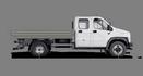 Габариты ГАЗон NEXT 8,7 тонн Универсальный, 7 мест стандартная база. Вид сбоку. Изображение для навигации
