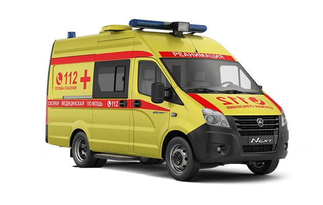 Автомобиль скорой медицинской помощи класса С на базе ГАЗель NEXT, желтая. Вид справа