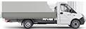 Габаритные размеры ГАЗель Next Борт 4,6 тонн, удлиненная база 3 места