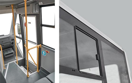 Поворотная дверь, форточки в пассажирском салоне ГАЗель Next Автобус Citiline
