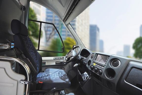 Место водителя в низкопольном автобусе ГАЗель City