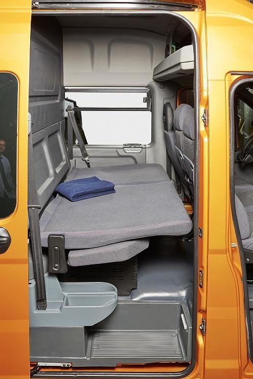 2 ряд сидений пассажирского отсека в разложенном виде ГАЗель Next Автобус