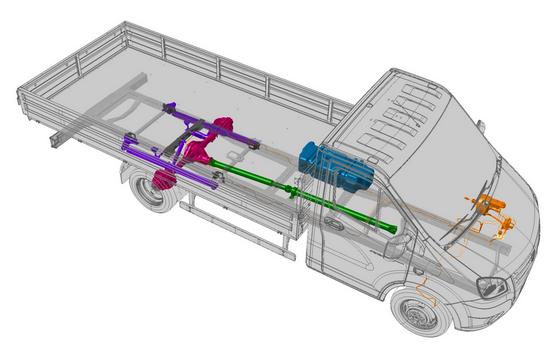 Модернизированные рессоры, усиленная рама и усиленное основание бортовой платформы ГАЗель Next ЦМФ 4,6 тонн
