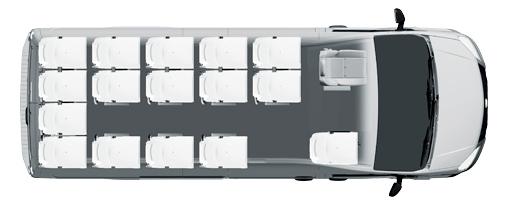 Школьный микроавтобус Газель NEXT, 15+1+1 мест, белый. Вид сверху