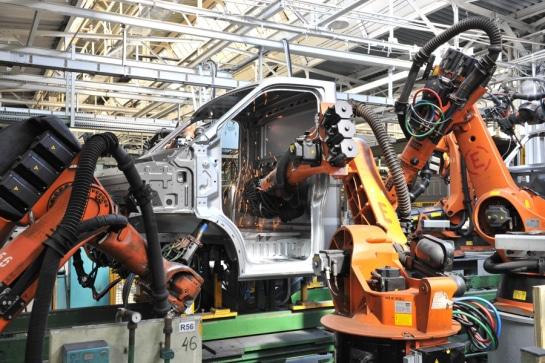 Автоматизированная сборка автомобилей ГАЗель Next Борт, вид сбоку