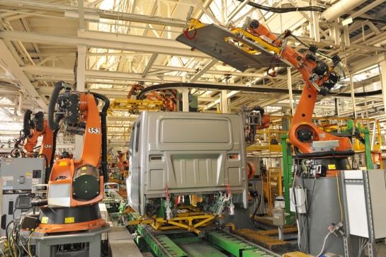 Автоматизированная сборка автомобилей ГАЗель Next Борт, вид сзади