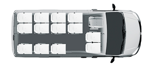 Городской микроавтобус 13+1+1, компоновка
