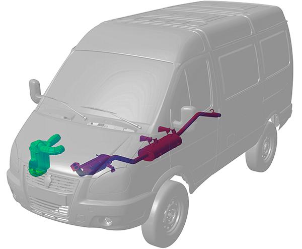 Система впуска и система питания в автомобилях на базе 4WD