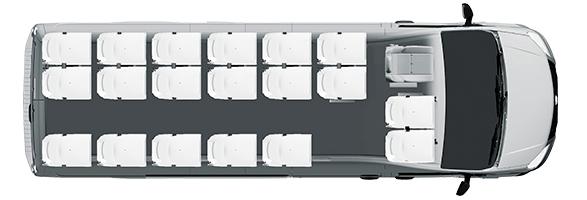 Городской микроавтобус 19+3+1, компоновка
