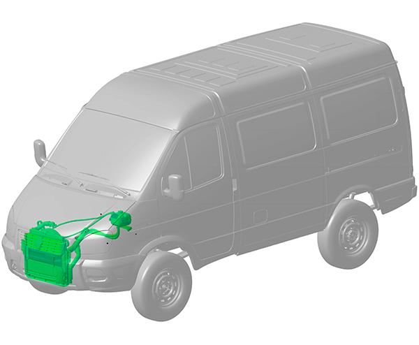 Система охлаждения в автомобилях на базе 4WD