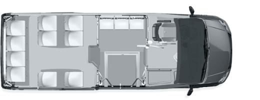 Схема размещения в автобусе ГАЗель City 14+4+1инв+1