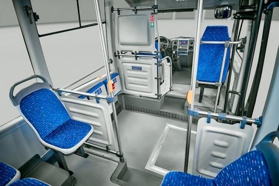 Пассажирский салон в низкопольном автобусе ГАЗЕЛЬ CITY